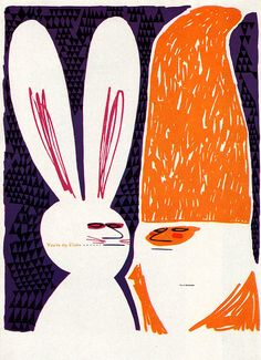 "Art Shipman Illustration ""You're on, Claus"". The designer's own holiday card. From Graphis Annual 60/61."