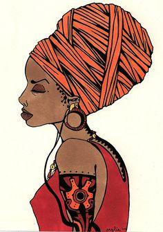 african rhythms by ~tsurushita Visit fuckyeablackart.tumblr.com for more awesome Black Women Art!