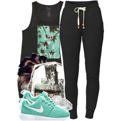 • by babygirlslayy on Polyvore featuring Billabong, Lija, NIKE, *Accessories Boutique and Allurez