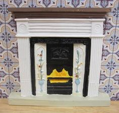 White Victorian Fireplace - Resin $8 Diy Mantel, Victorian Fireplace, Resin, Miniatures, Ideas, Home Decor, Decoration Home, Room Decor, Interior Design