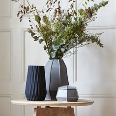 These pretty White Ceramic Vases look equally beautiful with or without flowers. The geometric shape is so on trend and they make a lovely gift. Furniture Design, White Ceramics, Accessories Design, Furniture, Geometric Vases, Home Accessories, White Ceramic Vases, Vase, Beautiful Furniture