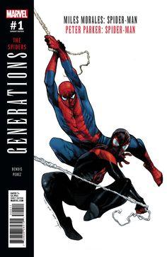 Generations Morales & Parker Spider-man PTG Var Marvel Comics Comic Book for sale online Marvel Comics, Marvel Dc, Marvel Comic Books, Marvel Heroes, Marvel Characters, Comic Books Art, Comic Art, Captain Marvel, Ultimate Spider Man