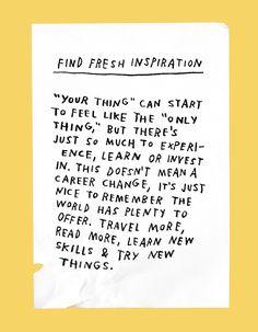 Find fresh inspirati