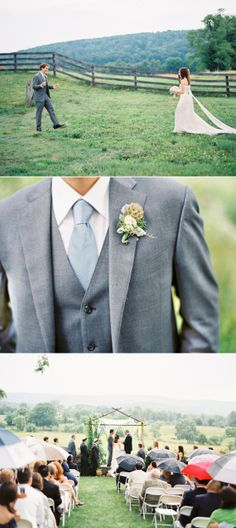 I love the groom's 3 piece suit