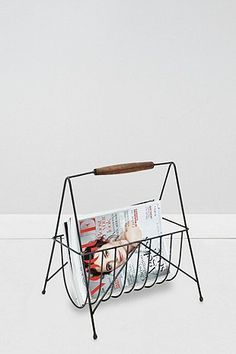 Wood Handle Magazine Holder - Urban Outfitters