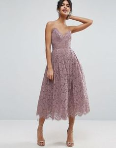 ASOS Lace Cami Midi Prom Dress