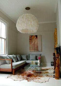 The Decorista-Domestic Bliss: fiela feather lights by haldane martin