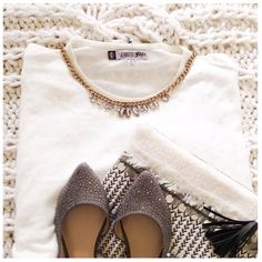 """J.Lo Oversized White Sequin Dolman Sweater This sweater is oversized with clear sequins and dolman style sleeves.  This is new w/partial tag{actual color of item may vary slightly from photos}  •shoulders:25"""" •chest:29"""" •waist:29""""w •length:25.5"""" •Material:cotton polyester acrylic rayon •machine wash  ️•fit:oversized could easily work for med  Condition:no rips no stains✨ NEW✨ ❌no holds ❌no trades ♥️️bundles of 3/more items get 20% off Jennifer Lopez Sweaters Crew & Scoop Necks"""