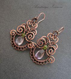 Earrings with Ametrine van NastivaJewerly op Etsy, $51.00