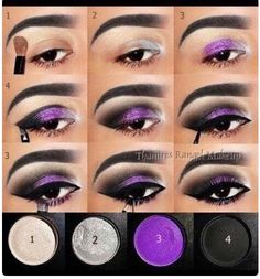 20 Fashionable Smoky Purple Eye Makeup Tutorials for All Occasions Halloween makeup? The post 20 Fashionable Smoky Purple Eye Makeup Tutorials for All Occasions appeared first on Do It Yourself Fashion. Purple Smokey Eye, Purple Eye Makeup, Purple Eyeshadow, Mac Eyeshadow, Lipstick Mac, Eyeshadow Palette, Eyeshadow Ideas, Gothic Eye Makeup, Evil Queen Makeup