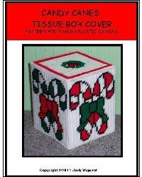 Everything Plastic Canvas - Candy Canes Tissue Box Cover