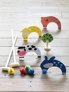 Junior Carpet Croquet from cox & cox Preschool Games, Activities For Kids, Toddler Toys, Kids Toys, Tinker Toys, Cute Games, Woodworking For Kids, Kids Board, Craft Show Ideas