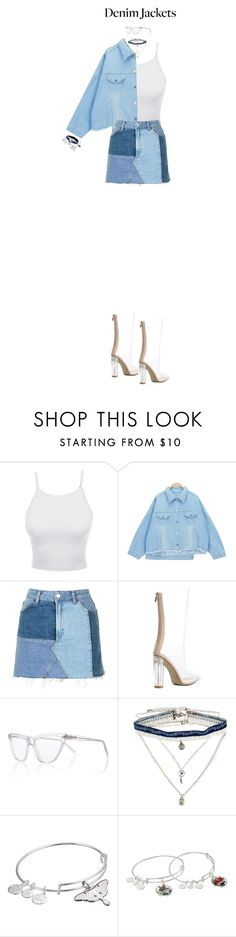 """""""Denim Jackets"""" by psannahia ❤ liked on Polyvore featuring LE3NO, Chicnova Fashion, Topshop, Prism, Decree, Alex and Ani and McQ by Alexander McQueen"""