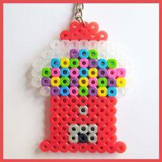 Perler hama beads Gumball Machine Keychain by cherryboop