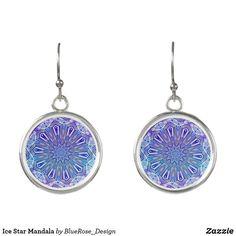 Ice Star Mandala Earrings Christmas Card Holders, Colorful Backgrounds, Crochet Earrings, Mandala, Perfume, Ice, Drop Earrings, Stars, Unique