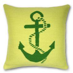 Jonathan Adler Anchor Pillow in Sail Away