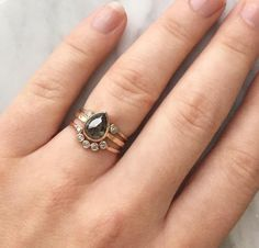 black diamond ring stack :: Alexis Russell