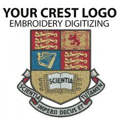 #Swiftartwork crest #embroidery #digitizing_service is a package where you can get those details #crest_digitised of your logo which will include complex crest, college and school crest and much more. Call us at 020 3873 4738.
