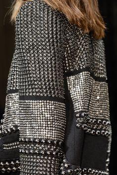Silver sequins & studs - embellished jacket; glam rock fashion details // Isabel Marant