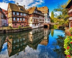 Traditional half-timbered houses in La Petite France, Strasbourg, Alsace   10 little towns in France you need to visit Now!