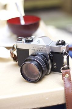 Such a beautiful film camera! I love my Pentax.