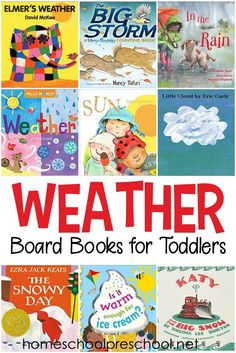 Check Out This List Of Weather Books For Toddlers These Board Books Are Perfect For Your Next Weather Unit For Toddlers And Preschoolers. Via Homeschlprek Preschool Books, Toddler Preschool, Book Activities, Preschool Activities, Toddler Learning, Toddler Crafts, Early Learning, Teaching Weather, Preschool Weather
