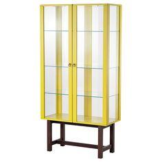 STOCKHOLM Kast met glazen deuren - geel - IKEA