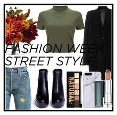 """street look"" by veronica-beckran on Polyvore featuring Nearly Natural, Levi's, Rick Owens, Ash, Miss Selfridge, Maybelline and NYX"