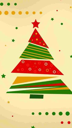 geometry Christmas tree iPhone 6 wallpaper designs for girls 2014