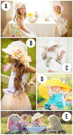 Okay- it's official.  My girls need Easter hats so I can snap some cute Easter pics.  :)