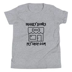 This is the tee that you've been looking for, and it's bound to become a favorite in any youngster's wardrobe. It's light, soft, and comes with a unique design that stands out from the crowd wherever you go! Pet Shop, Bones, Youth, Tee Shirts, Clothes For Women, Fabric, Sleeves, Mens Tops, Cotton