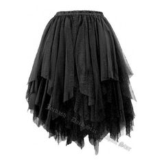 Dark Star Gothic Short Black Lace Net Multi Tier Witchy Hem Mini Skirt ❤ liked on Polyvore featuring skirts, mini skirts, layered lace skirt, lace miniskirts, elastic waistband skirt, tiered lace skirt and goth skirt