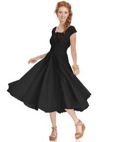 Grace Elements Dress, Short-Sleeve Smocked Peasant - Dresses ...