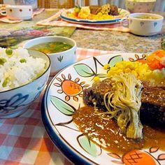 オージービーフを塩麹に漬けておいて焼きました。激うまに(^O^) - 26件のもぐもぐ - ステーキ、豆ご飯 by mamikisijI5
