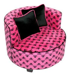 Pink Skull Chair For S Room Furniture Barbie