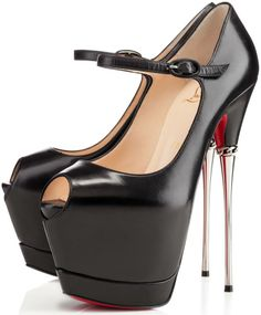 5fb0eb9d99 Vampire Hunting weapons or shoes worn by werewolves? Red High Heels, Red  Bottom Heels