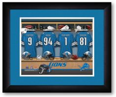 Use the code PINFIVE to receive an additional 5% discount off the price of the Detroit Lions NFL Personalized Locker Room Print at SportsFansPlus.com
