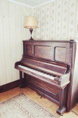 Abandoned Piano stock photo