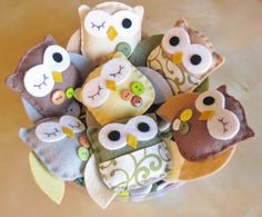 Owl Ornaments  Nursery Decoration  Nursery Owl by LoveFeltXoXo, $80.00