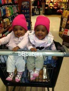 Twins Beautiful black kids. Cute little girl / boys fashion kids fashion Kids fashion / swag / swagger / little fashionista / cute / love it!! Baby u got