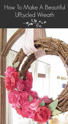 DIY Beautiful Upcycled Wreath Made From Mens Dress Shirts