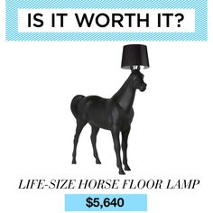 """Is It Worth It? Moooi Horse Floor Lamp"" by polyvore-editorial on Polyvore omg this is an actual product you can actually buy"