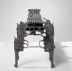 Excellent use of weapons, turn them into strange musical instruments. Weapon instruments by Pedro Reyes at Lisson Gallery