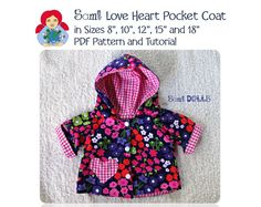 Reversible coat for a Waldorf Doll PDF Tutorial by SamiDolls