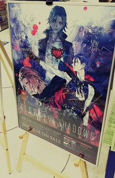 This is an autograph of Bloddy Shadows(Masato Hijirikawa, Ren Jinguji n Ai Mikaze) @Animate Tennouji. #utapri
