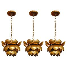 Amazing vintage brass light fittings. Would be so perfect in our living room!