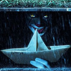 Pennywise the Dancing Clown hiding in the sewer it IT Movie Nightmare on Film Street - Horror Movie Podcast, H… in 202 Penny Wise Clown, Clown Pennywise, Pennywise The Dancing Clown, Pennywise Sewer, Pennywise Film, Horror Movie Characters, Horror Movies, Tumblr Roses, Scary Wallpaper