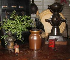 Primitive Antique Vtg Style Wax Sealer Glazed Jar Stoneware Jug Pitcher Crock #NaivePrimitive
