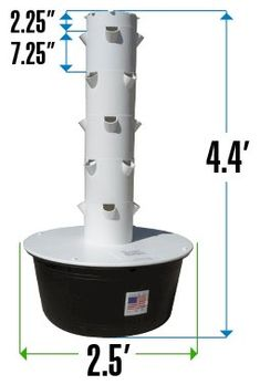 Dimensions for the Tower Garden - it'll fit pretty much anywhere! You can grow indoors, outdoors, balcony, patios and even on rooftops. www.shelbymeyer.towergarden.com