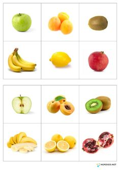 Laminate page, cut out fruits, ask children to match. Healthy Prepared Meals, Healthy Recipes, Fruit And Veg, Fruits And Vegetables, Life Hacks For School, School Life, Best Weight Loss Foods, Kids Education, Health And Nutrition